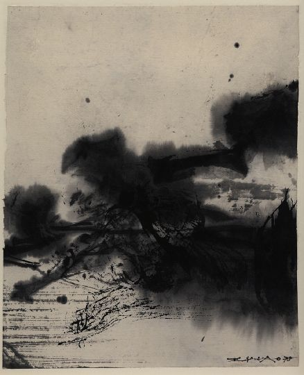 Zao Wou-Ki, sans titre, encre de chine
