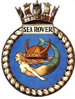 Badge of the HMS Sea Rover, submarine of the Royal Navy, commanded by Lt.-Cmdr. John Angell in World War II. Under his leadership the Sea Rover sunk 9 Japanese ships in WWII. (Image courtesy of wikipedia.org) http://bit.ly/JAngellObit