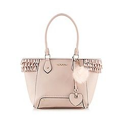 Light pink frilled tote bag