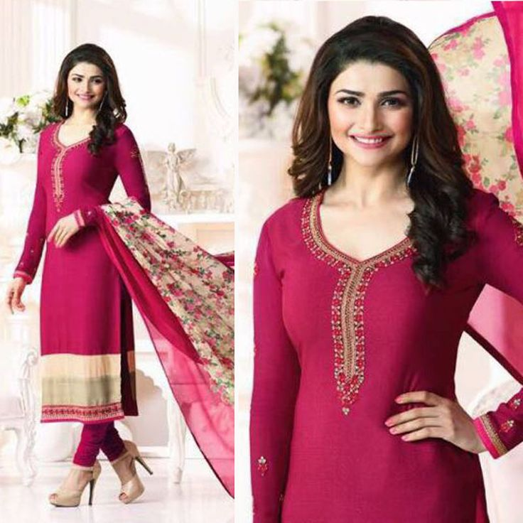Indian Designer New Straight Salwar Kameez Bollywood Suit Material Free Shipping #Handmade #SalwarKameez