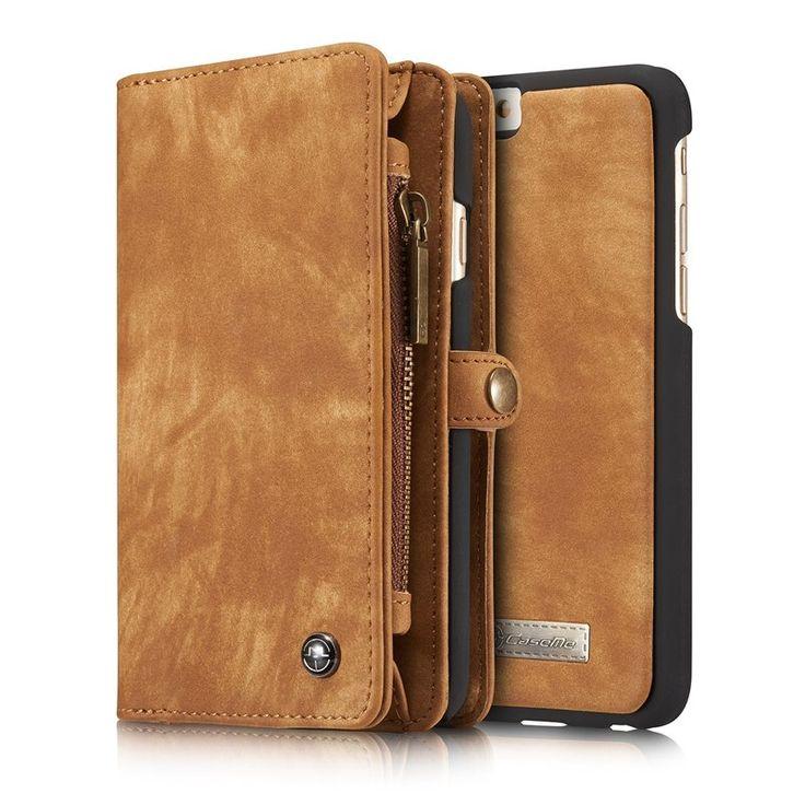 Multi-slot Retro Split Leather Wallet Zipper Case For iPhone 6 6S Apple 4.7  Sale - Banggood.com  abc35a0188162