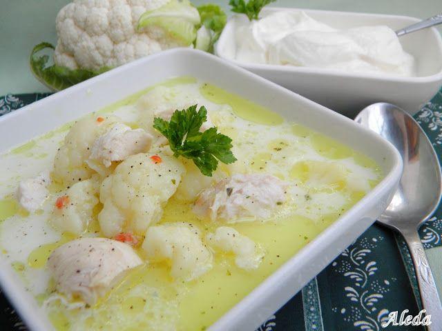 Aleda konyhája: Karfiol leves