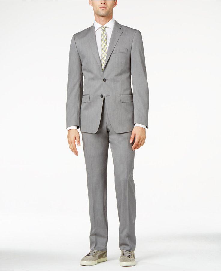 Calvin Klein Light Grey Extra-Slim Fit Suit - Suits & Suit Separates - Men - Macy's