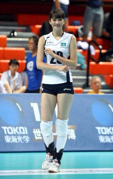 Beautiful Kazakhstan Volleyball athlete
