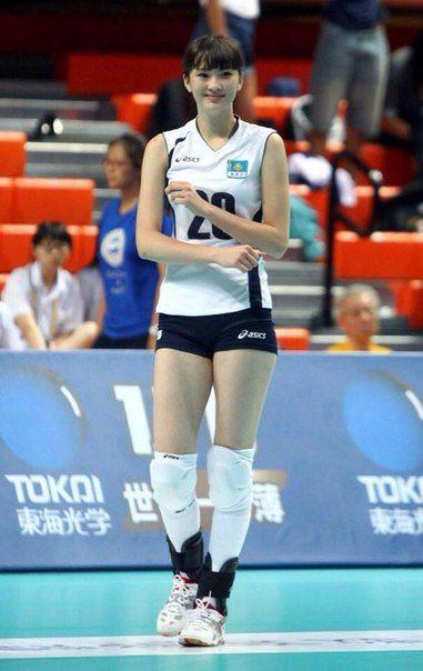 Beautiful Kazakhstan Volleyball athlete