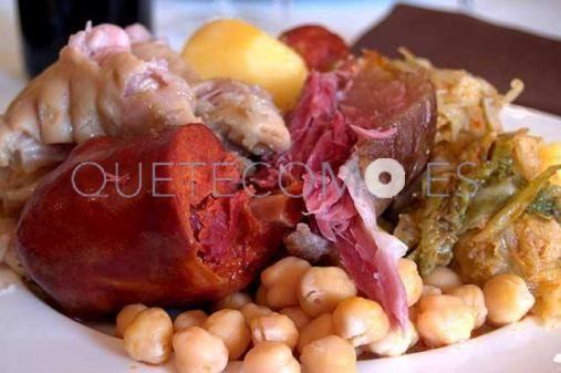 Cocido gallego   Restaurante Casa Rivero en Mondariz-Balneario, Pontevedra