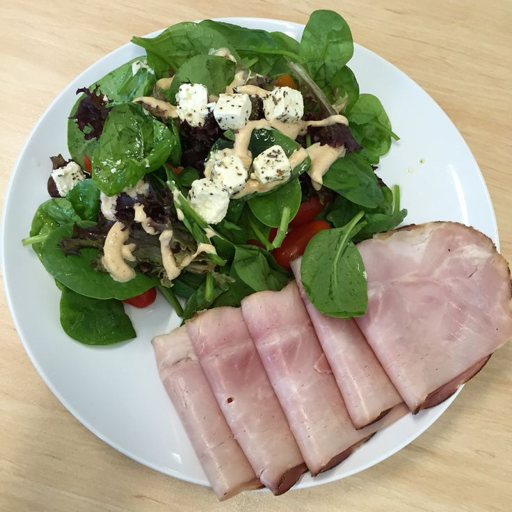 Mediterranean salad 100g with 140 g Triple smoked ham