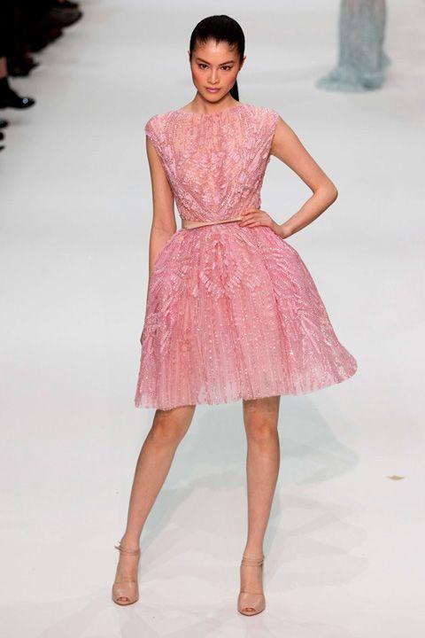 dressPink Dresses, Elie Saab, Muy Elegant, Day Dresses, Delicate Pink, Klauvázkez Eliesaab, Eliesaab Luxury, Saab 2012, Lace Dresses