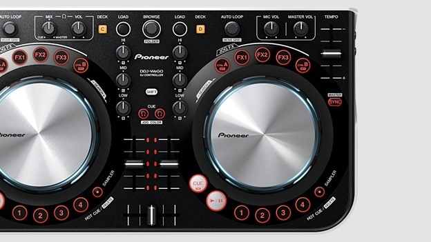 Pioneer DDJ-WeGO    Aimed at wheels-of-steel neophytes this comes with Virtual DJ software, reskinned to match the controller. Plug into a laptop and start mashing up your first mega hit, like Skrillex, whoever he is.    Price: £250, pioneer.co.uk