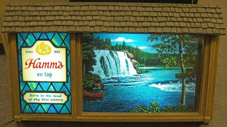 """Vintage Hamm's Beer sign... was in grandparents basement.. hours of staring at it while we """" pretended """" to bartend..."""