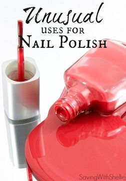 Need some nail polish ideas? You may be surprised to find that nail polish isn't just for your fingers and toes! Here are some Unusual Uses for Nail Polish to put all those old bottles to use. #5 is my favorite and the one I use most!