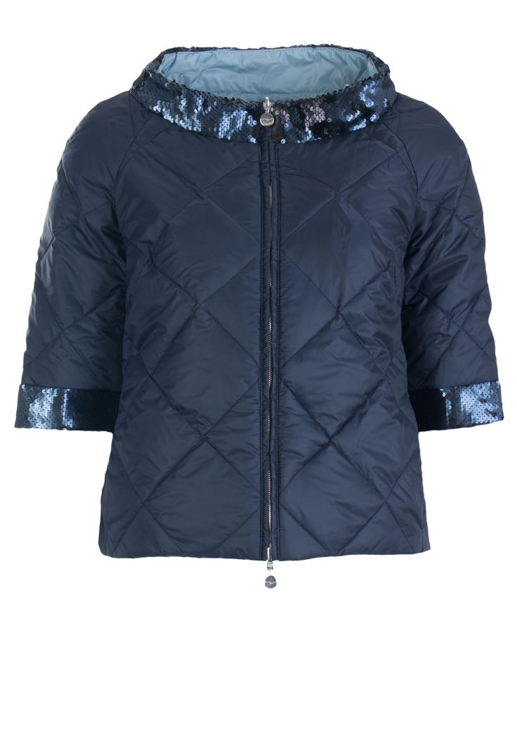 Синяя Куртка VIOLANTI - синяя двустороння куртка с пайетками Violanti в онлайн бутике по цене 25830 рублей, арт. V1272 - Elyts.ru