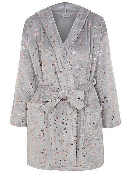 Metallic Star Hooded Dressing Gown | nightwear. | Pinterest ...