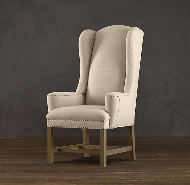 upholstered dining room chairs with arms tommy bahama chair fold up instructions $660/each belfort wingback   dinning pinterest restoration hardware ...