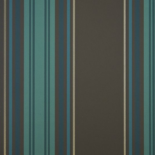 Pembrey Stripe Wallpaper   Combination Stripe Wallpaper In Black With Teal,  Turquoise And Metallic Silver