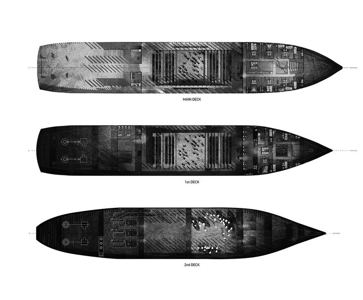 Hull Plans -- 2012 46.81″ x 33.11″ AutoCAD, SketchUp, pencil on paper, Photoshop -- http ...