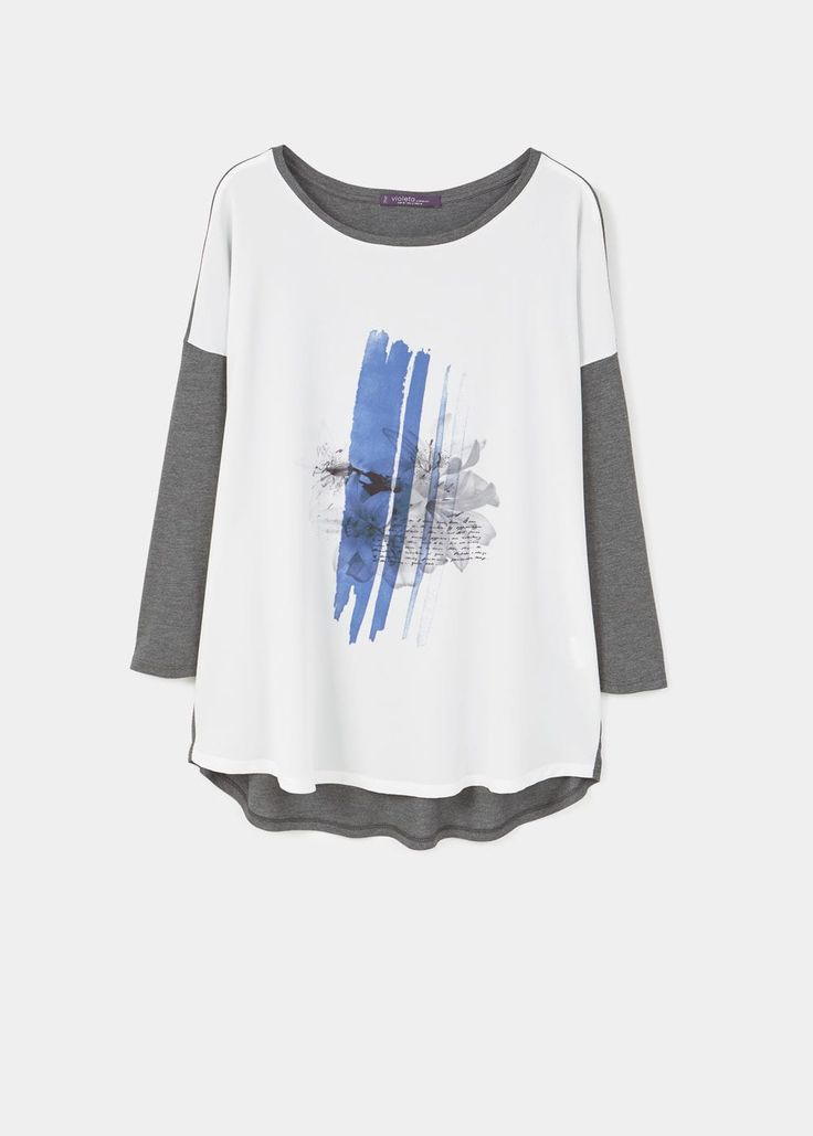 Koszulka kombi z nadrukiem