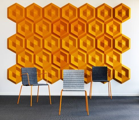 SOUND INSULATION AND SOUND ABSORBING FELT IN SYNTHETIC MATERIAL BEEHIVE BY JOHANSON DESIGN