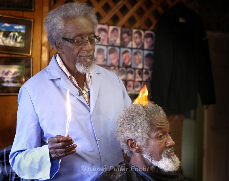 Need a hair cut when you are in Memphis? Look for Warren Lewis, near Chelsea and Danny Thomas. He will trim your afro with fire, a method he learned while cleaning/plucking chickens.