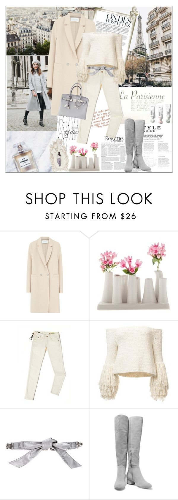 """Sans titre #1683"" by ladybird-fb ❤ liked on Polyvore featuring Chanel, Anja, Harris Wharf London, Chive, Tommy Hilfiger, Dolce&Gabbana, Halston Heritage and Hermès"