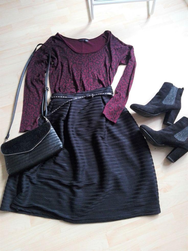midiskirt and leopard sweater Fashion inspo