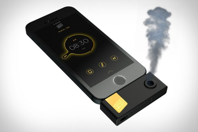 Don't know if this would be disgusting or cool... Bacon-Scented iPhone Alarm Clock