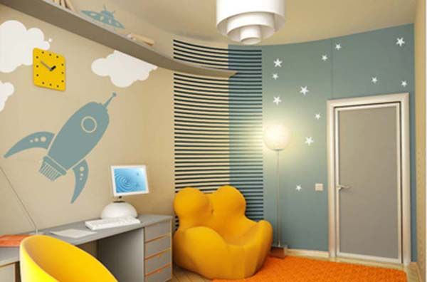 Boys Room Theme in Space Wall Decals Picture