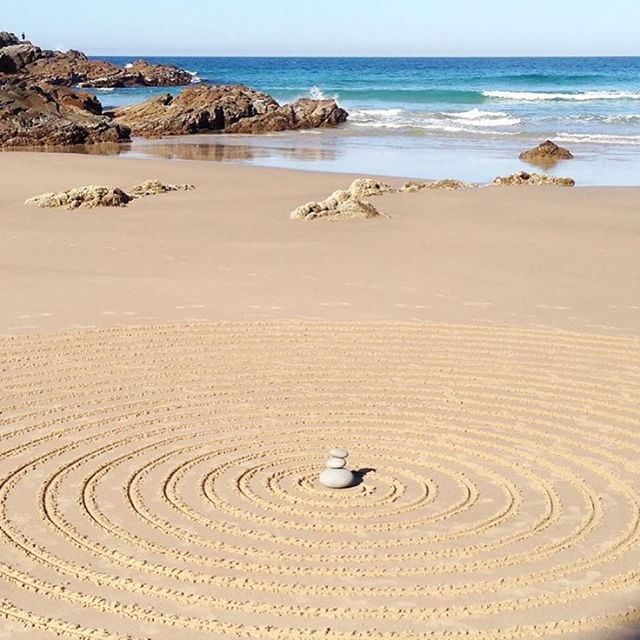 Simply stunning sand art captured at Sunshine Beach.