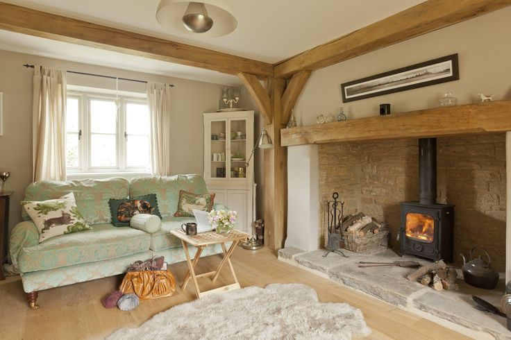 What a great design for a hearth!  I don't like wood stoves that stick too far…