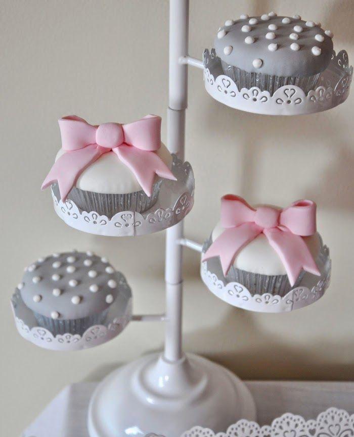 Pink and Gray Baby Shower via Kara's Party Ideas KarasPartyIdeas.com Cake, printables, favors, invitation, recipes, cupcakes, etc! (12)
