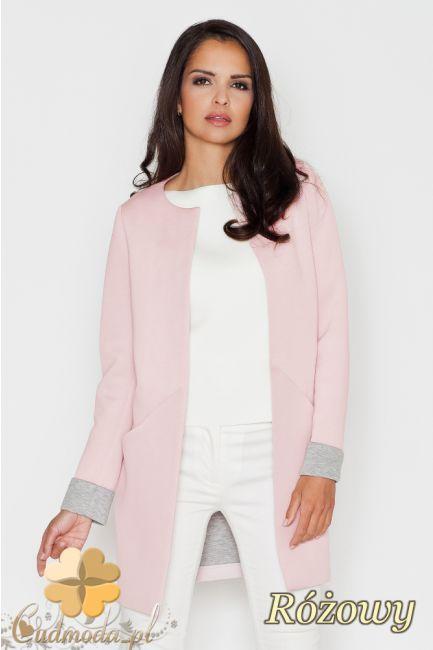 Niezapinany pastelowy żakiet marki FIGL.  #cudmoda #żakiety #marynarki #ubrania #odzież #jackett #jacket