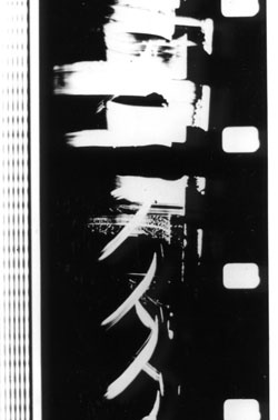 "Len LYE - photogramme du film ""free radicals"" 1958"