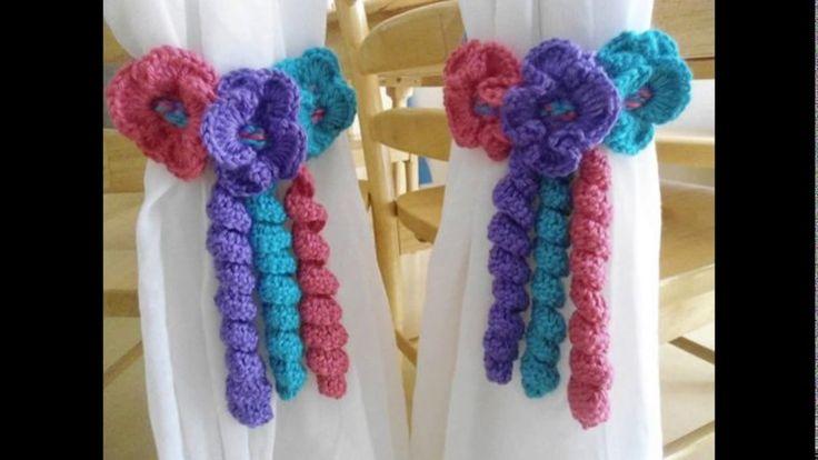 Agarradero de cortinas tejidos a crochet