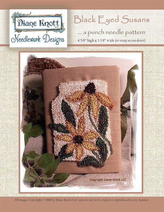 Black-Eyed-Susans Punch Needle Download Pattern by Diane Knott LLC