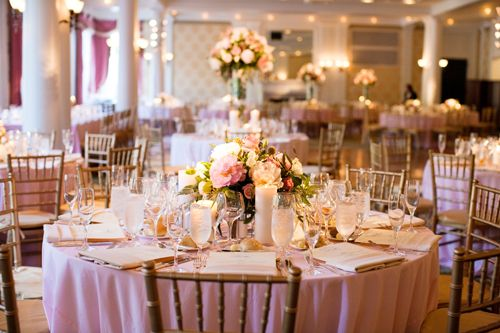 Complete Table Set up - Post Pictures! :  wedding centerpiece decor reception table set up Lindsaymike673