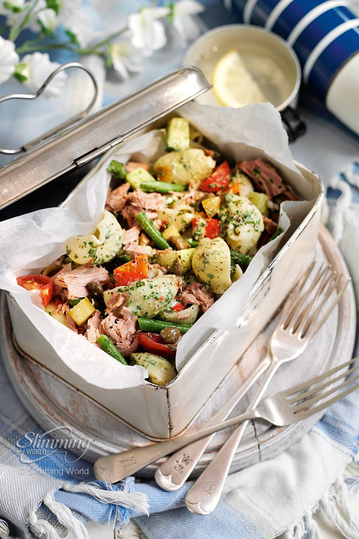We love pasta at Slimming World! Packed lunch or quick and easy supper, this tasty tuna pasta salad has all the wonderfully fresh flavours of pesto and is guaranteed to keep your taste buds tantalised and your appetite satisfied. Get the recipe below. http://www.slimmingworld.com/recipes/tuna-pasta-pesto-salad.aspx#sthash.SUApyc8a.dpuf