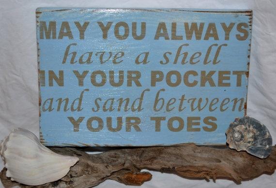Popular Beach Quote Beach Decor Wood Sign