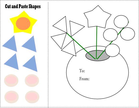 Cut and Paste Preschool Shapes