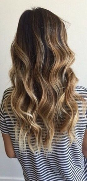Pinterest: |Minniewifeey|  Natural beachy honey balayage ombré brunette