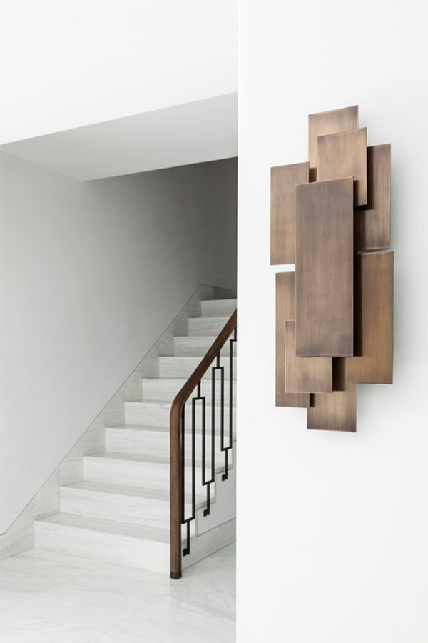 I love this abstract wall hanging! Contemporary furniture design by Two Is Company