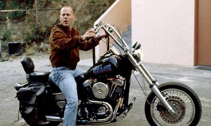 #Bruce_Willis riding Grace
