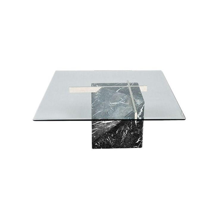 Good Marble Base Glass Top Coffee Table Part - 1: Artedi Marble Base U0026 Glass Top Coffee Table 1970/80s | Marbles, Living  Rooms And Room