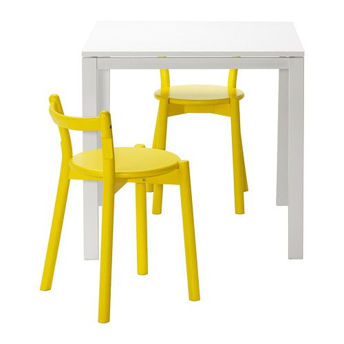 MELLTORP/IKEA PS 2012 Table and 2 stools IKEA The table top is covered with melamine, a moisture- and scratch-resistant finish that is easy to clean.