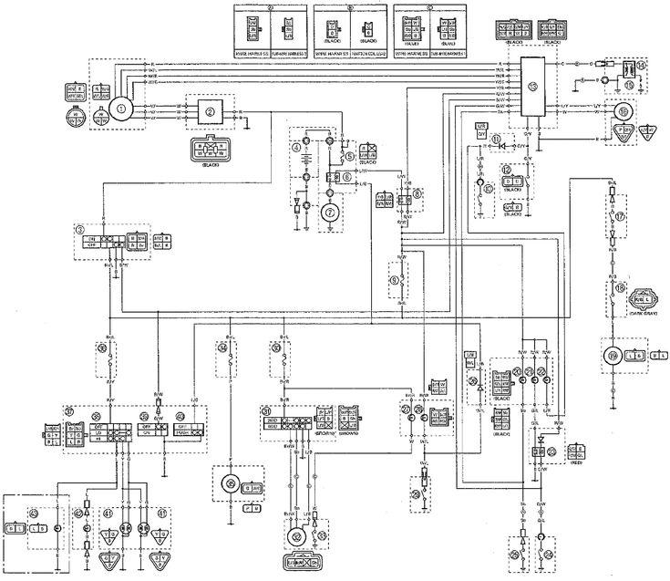 2000 Yamaha YFM400 YFM400fwa Kodiak wiring diagram