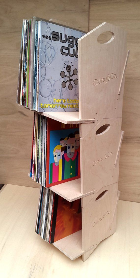 12 Vinyl Storage Box Modular Stackable Shelf Record Storage Vinyl Lp Storage Vinyl Storage