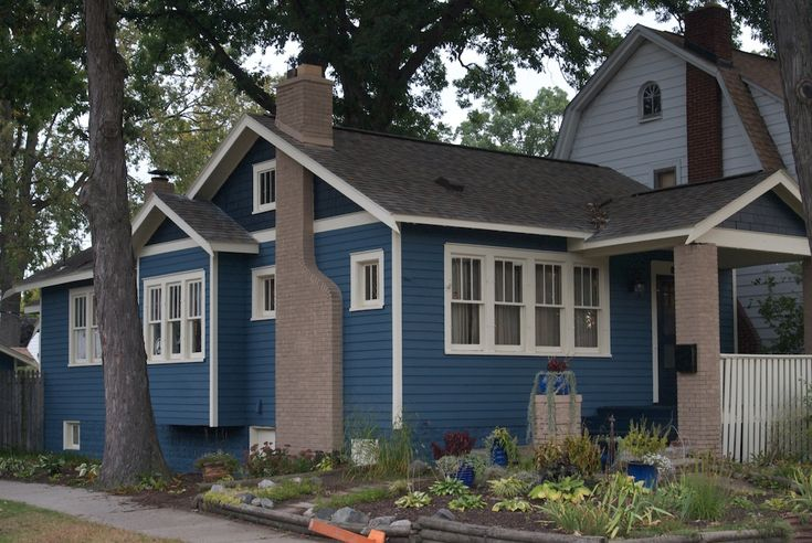 Sherwin williams superpaint flat siding bunglehouse blue shake doors porch floor dark - Exterior house colors blue ...