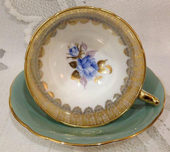 Vintage Aynsley Fine Bone China Tea Cup & Saucer