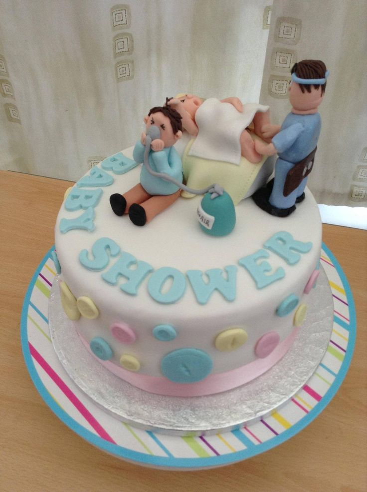 This would be the perfect cake cause it's describes exactly what I see happening in the delivery room