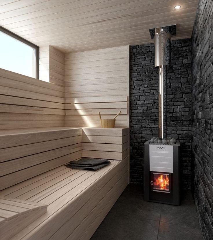 Печи для бани на дровах с баком: 60+ максимально функциональных и продуманных реализаций http://happymodern.ru/pechi-dlya-bani-na-drovax-s-bakom/ Небольшая парилка с металлической дровяной печью