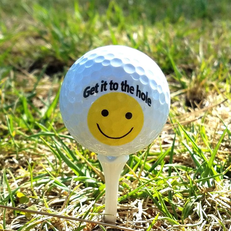 Set of 3 Custom UV Printed Golf Ball - Smiley Quote, Fathers Day, Gift, Personalized Golf Balls, Wedding Giveaway, Souvenir GB-0015